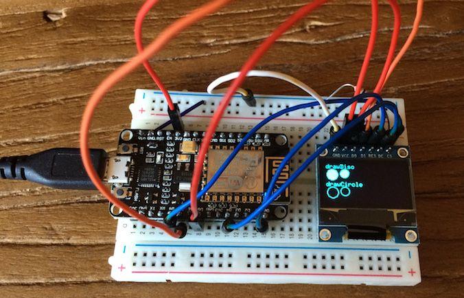 ESP8266 NodeMCU - OLED display using SPI